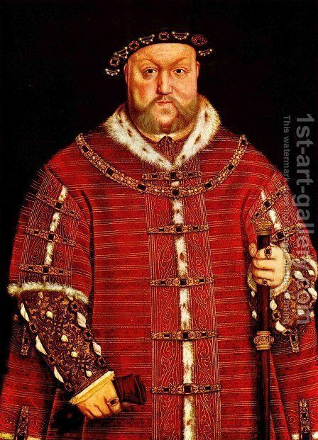 Portrait of Henry VIII 3 by (after) Holbein the Younger, Hans - Reproduction Oil Painting