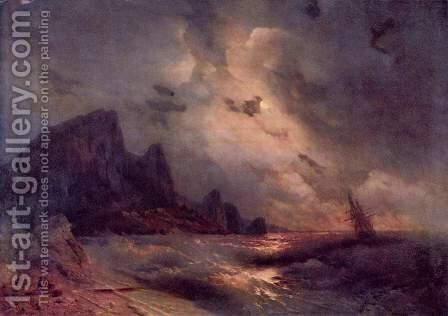 The sea by Ivan Konstantinovich Aivazovsky - Reproduction Oil Painting