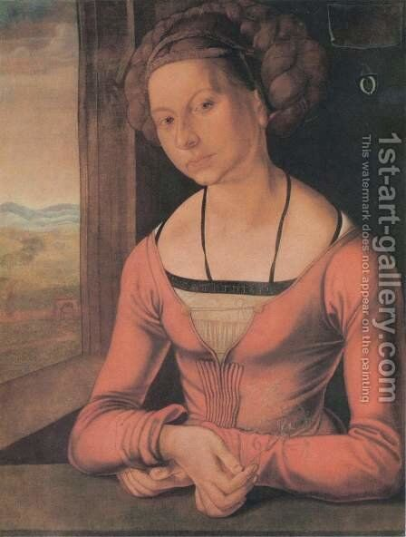 The Furlegerin with braided hair by Albrecht Durer - Reproduction Oil Painting