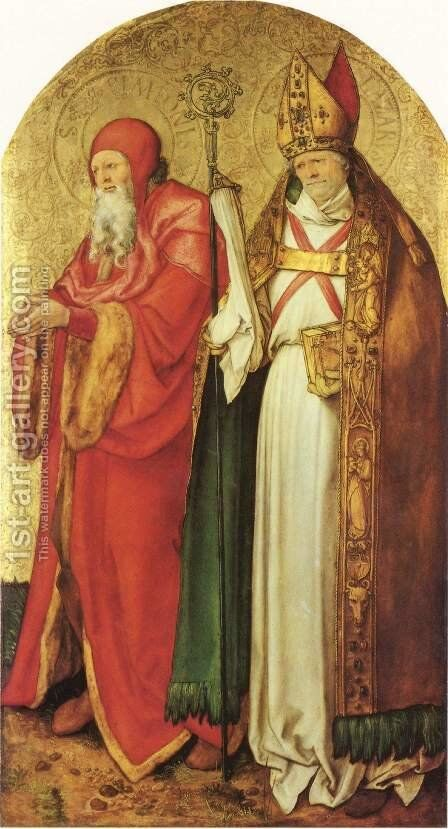 Jabach Altar, Saint Simeon and Lazarus by Albrecht Durer - Reproduction Oil Painting