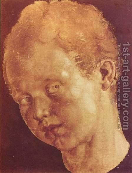 Boy's head tilted to the left by Albrecht Durer - Reproduction Oil Painting