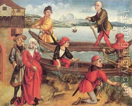 Miraculous rescue of a drowned boy in Bregenz by Albrecht Durer - Reproduction Oil Painting