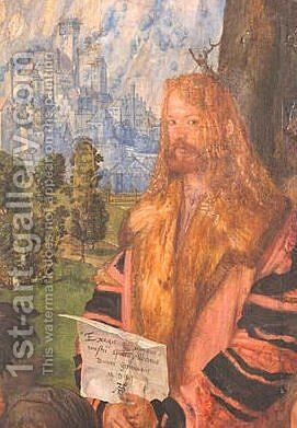 Rosary Altar (detail) by Albrecht Durer - Reproduction Oil Painting