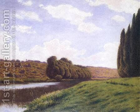 Polish landscape with cypresses by Aleksander Gierymski - Reproduction Oil Painting