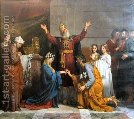 Marriage of the Virgin by Alexandre-Francois Caminade - Reproduction Oil Painting