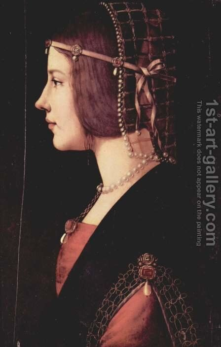 Portrait of a Lady by Ambrogio de Predis - Reproduction Oil Painting