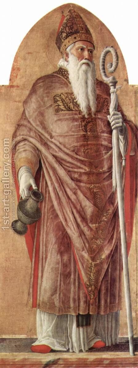 St. Prosdozimus from Padua, detail of the St. Lucas altarpiece by Andrea Mantegna - Reproduction Oil Painting