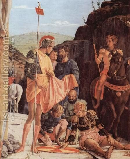 Altarpiece of San Zeno in Verona, triptych, middle panel by Andrea Mantegna - Reproduction Oil Painting
