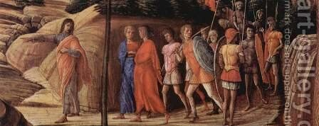 Christus on the Mount of Olives cited in the Garden, detail approaching of Judas by Andrea Mantegna - Reproduction Oil Painting