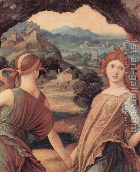 The Parnassus, detail by Andrea Mantegna - Reproduction Oil Painting