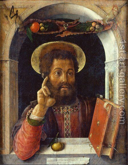 St. Mark, Evangelist by Andrea Mantegna - Reproduction Oil Painting