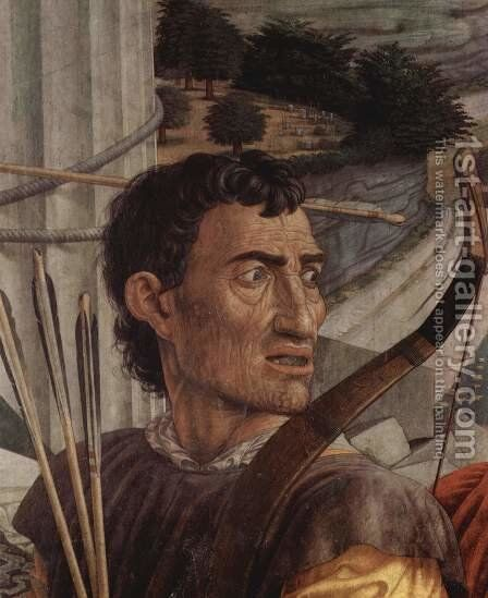 St. Sebastian, detail of head of one of the archers by Andrea Mantegna - Reproduction Oil Painting