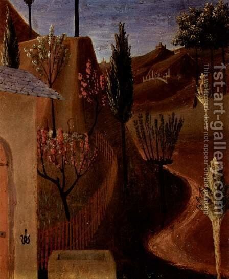 Image cycle to scenes of Christ's life for a cabinet for storing silverware (detail) 2 by Angelico Fra - Reproduction Oil Painting