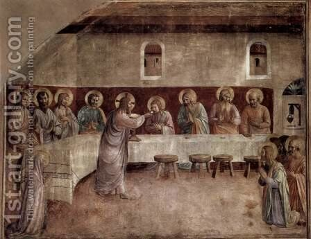Frescoes in the Dominican convent of San Marco in Florence scene Apostles Communion, Holy Communion by Angelico Fra - Reproduction Oil Painting