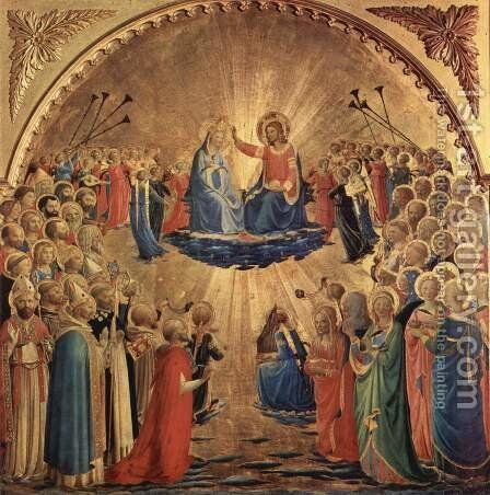 Crowning Mary by Angelico Fra - Reproduction Oil Painting