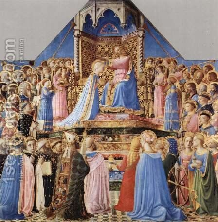Crowning Mary, and scenes from the life of St. Dominic 2 by Angelico Fra - Reproduction Oil Painting