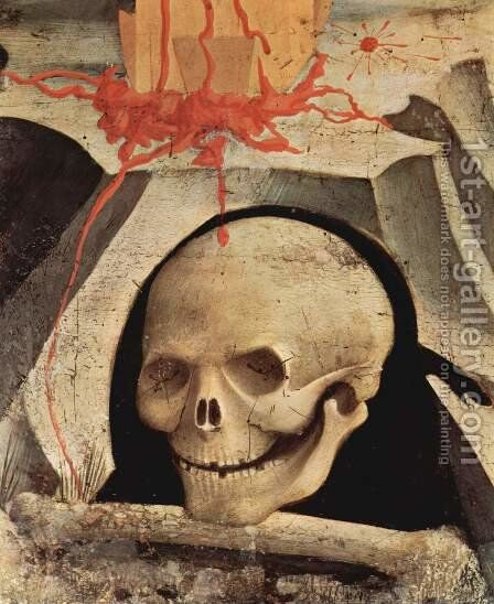 Skull on Mount Adams scenes from the life of St. Stephen and St. Lawrence by Angelico Fra - Reproduction Oil Painting