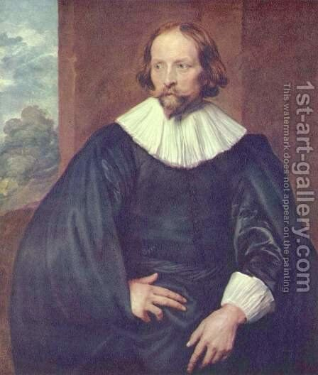 Portrait of the painter Quinten Simons by Sir Anthony Van Dyck - Reproduction Oil Painting