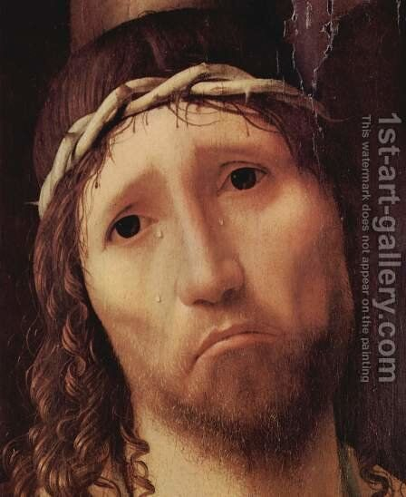 Ecce Homo, Detail by Antonello da Messina Messina - Reproduction Oil Painting