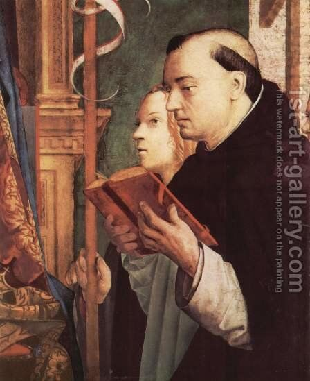 Fragment of the Pala di San Cassiano, Venice, St. Dominic and St. Ursula by Antonello da Messina Messina - Reproduction Oil Painting