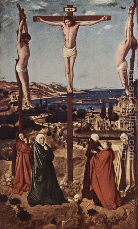 Crucifixion 3 by Antonello da Messina Messina - Reproduction Oil Painting