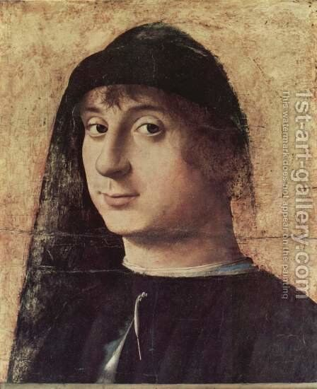 Portrait of a Man 3 by Antonello da Messina Messina - Reproduction Oil Painting