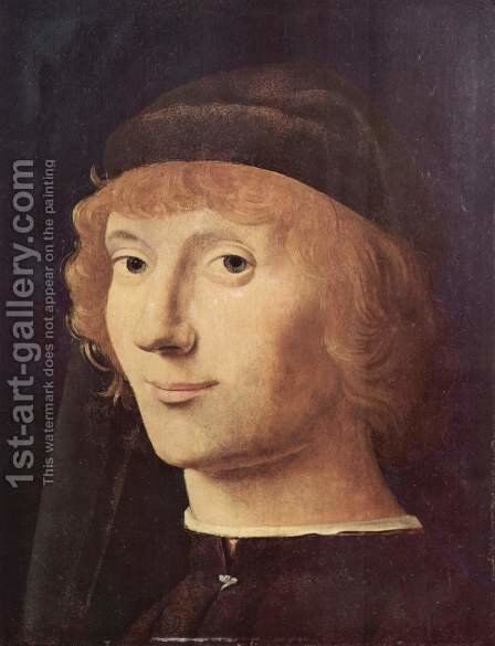 Portrait of a Man 5 by Antonello da Messina Messina - Reproduction Oil Painting