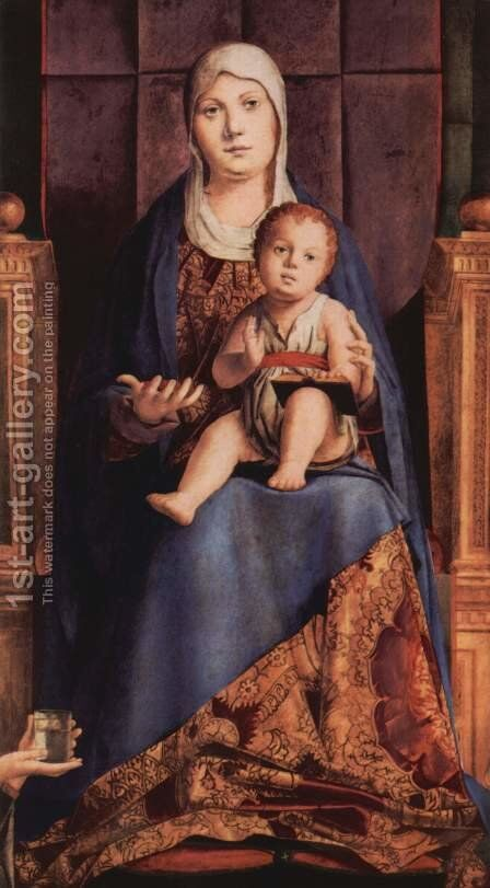 Enthroned Virgin, fragment of the Pala di San Cassiano, Venice by Antonello da Messina Messina - Reproduction Oil Painting