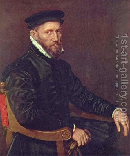 Portrait of Thomas Gresham by (after) Mor, Sir Anthonis (Antonio Moro) - Reproduction Oil Painting