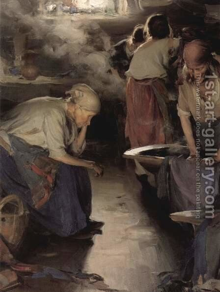 The Washer Women - 2nd version by Abram Efimovich Arkhipov - Reproduction Oil Painting
