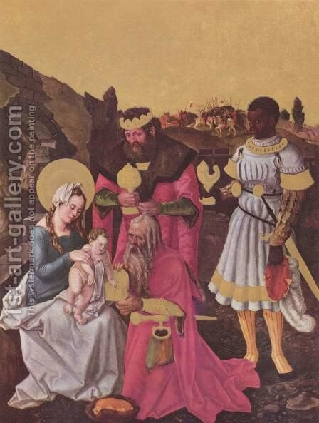 Adoration of the Kings by Hans Baldung  Grien - Reproduction Oil Painting