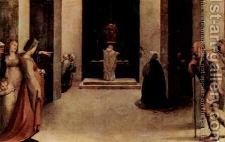 St. Catherine receives the stigmata, with St. Benedict and St. Jerome by Domenico Beccafumi - Reproduction Oil Painting