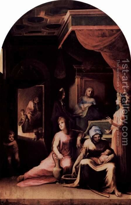 Mary's Birth by Domenico Beccafumi - Reproduction Oil Painting