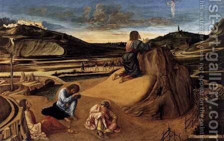 Christ on the Mount of Olives by Giovanni Bellini - Reproduction Oil Painting