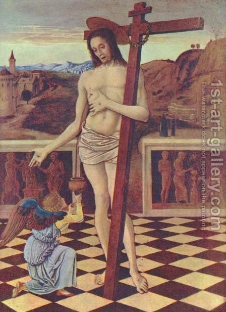 The blood of the Redeemer by Giovanni Bellini - Reproduction Oil Painting
