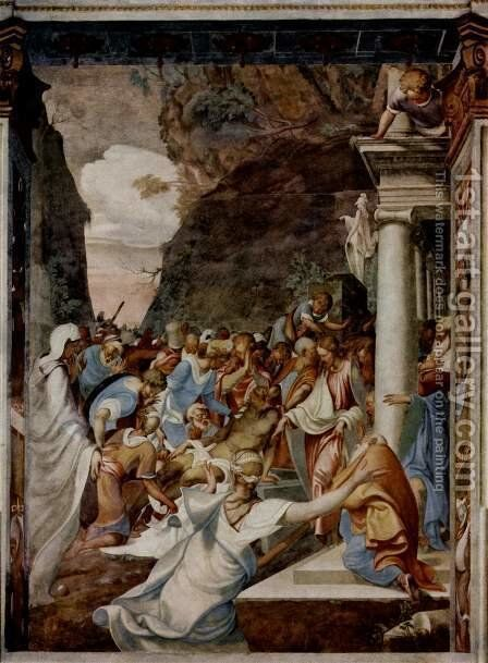 The Resurrection of Lazarus by Camillo Boccaccino - Reproduction Oil Painting