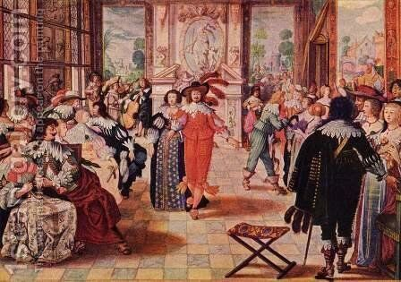 The ball by Abraham Bosse - Reproduction Oil Painting