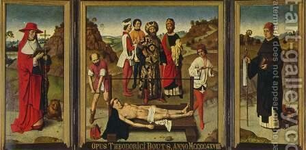 Martyrdom of Saint Erasmus, triptych by Dieric the Elder Bouts - Reproduction Oil Painting
