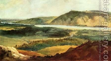 Danube valley near Vienna by Johann Christian Brand - Reproduction Oil Painting