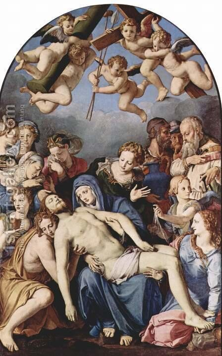 Altar of the Chapel of Eleonora da Toledo, scene from the Cross by Agnolo Bronzino - Reproduction Oil Painting