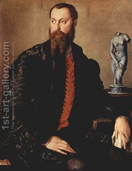 Portrait of a gentleman by Agnolo Bronzino - Reproduction Oil Painting