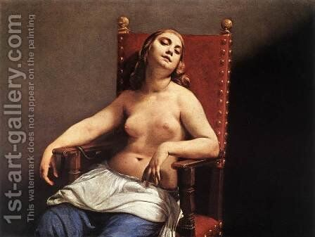 The Death of Cleopatra c. 1660 by Guido Cagnacci - Reproduction Oil Painting