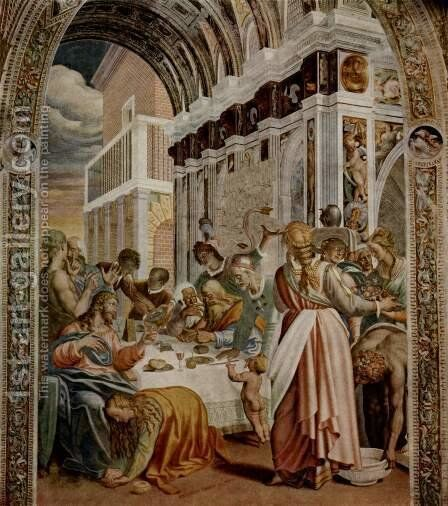 Supper in the house of the Pharisee by Antonio Campi - Reproduction Oil Painting