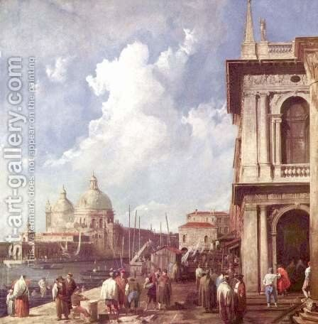 Piazzetta in Venedig by (Giovanni Antonio Canal) Canaletto - Reproduction Oil Painting