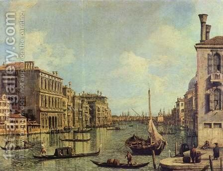 Veduta del Canale Grande in the direction of the port of San Marco by (Giovanni Antonio Canal) Canaletto - Reproduction Oil Painting