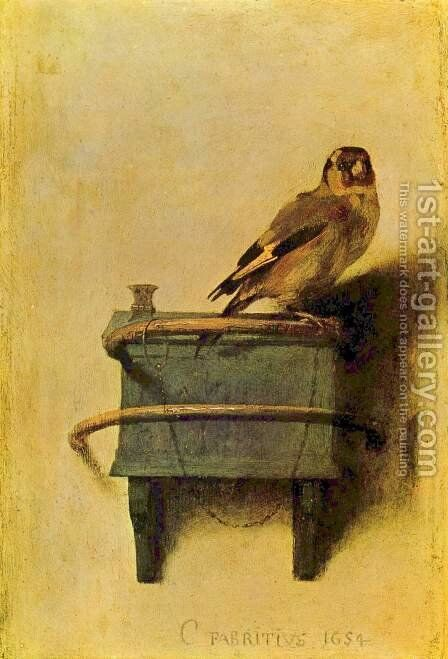 The goldfinch by Carel Fabritius - Reproduction Oil Painting