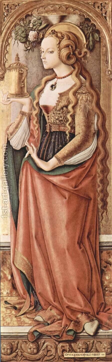 Mary Magdalene by Carlo Crivelli - Reproduction Oil Painting