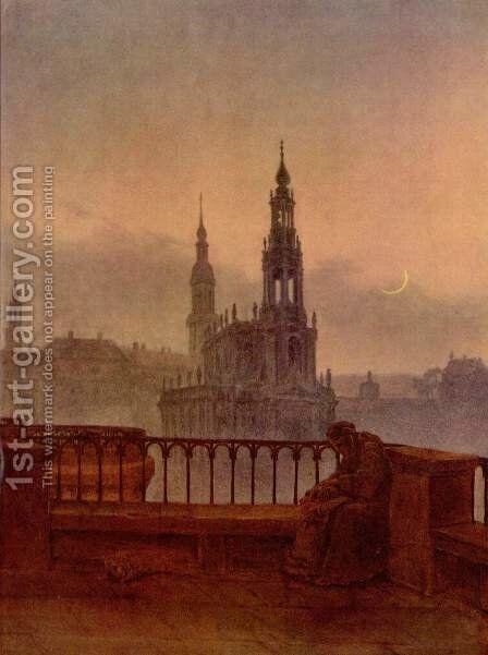 View of Dresden from the Brühlschen Terrasse by Carl Gustav Carus - Reproduction Oil Painting