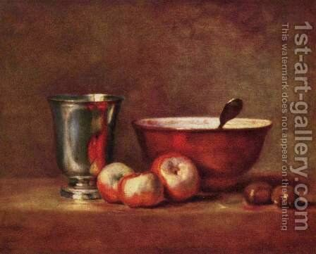 Still life 3 by Jean-Baptiste-Simeon Chardin - Reproduction Oil Painting