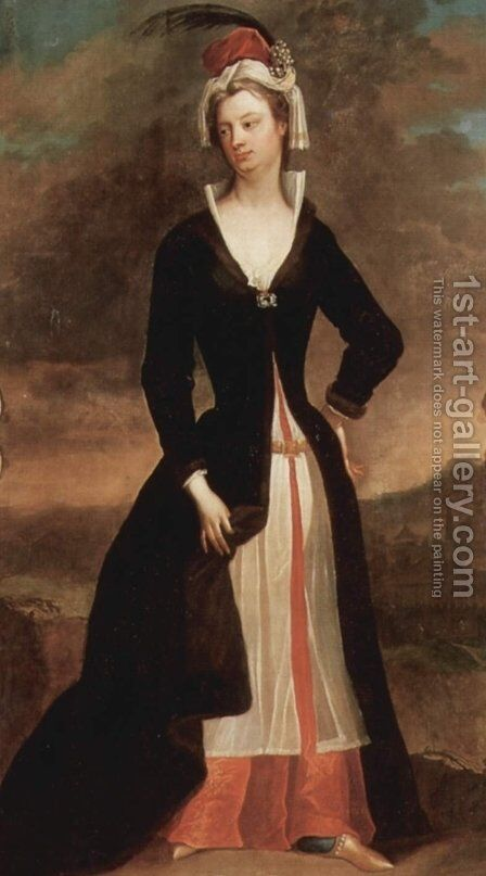 Portrait of Lady Mary Wortley Montagu by Charles Jervas - Reproduction Oil Painting
